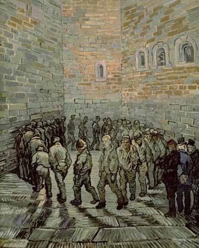 cuadros-de-retrato - Cuadro -La prisión de los convictos- - Van Gogh, Vincent