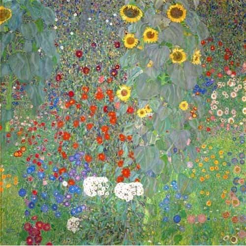 cuadros de flores - Cuadro -Jardín con girasoles-