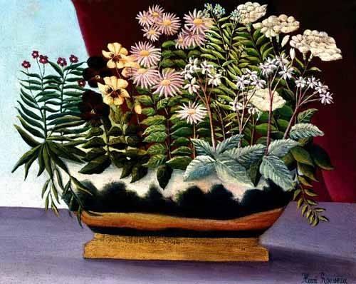 cuadros-de-flores - Cuadro -Banquete de Poeta- - Rousseau, Henri