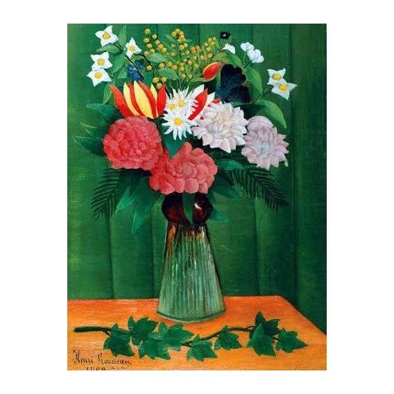 cuadros de flores - Cuadro -Flores en un jarrón-