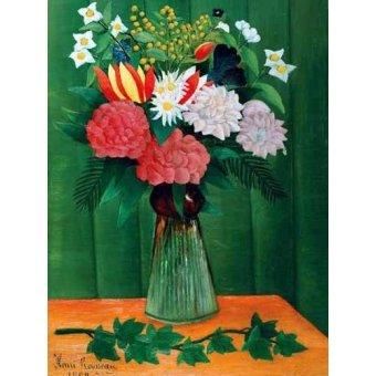 - Cuadro -Flores en un jarrón- - Rousseau, Henri