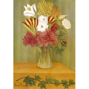 - Cuadro -Ramo de flores- - Rousseau, Henri