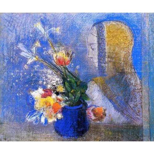 cuadros de flores - Cuadro -Meditation-