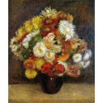 - Cuadro -Ramo de Crisantemos- - Renoir, Pierre Auguste