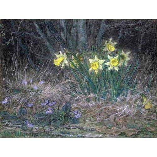 Cuadro -Narcisos y Violetas-