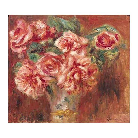 cuadros de flores - Cuadro -Rosas en un jarrón-