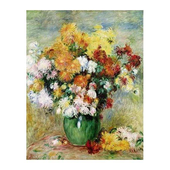 cuadros de flores - Cuadro -Bouquet de Crisantemos-