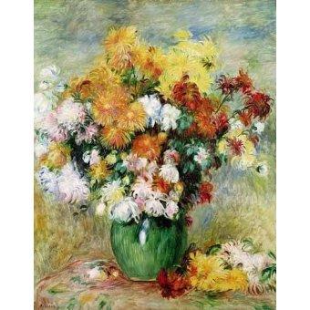 - Cuadro -Bouquet de Crisantemos- - Renoir, Pierre Auguste