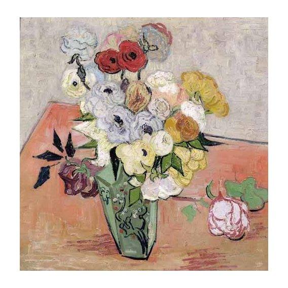 cuadros de flores - Cuadro -Rosas y Anémonas-