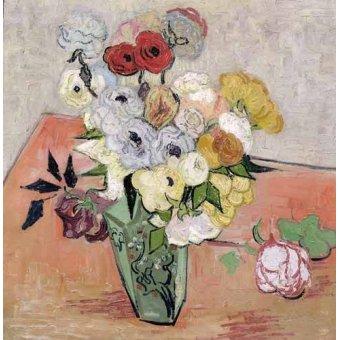cuadros de flores - Cuadro -Rosas y Anémonas- - Van Gogh, Vincent