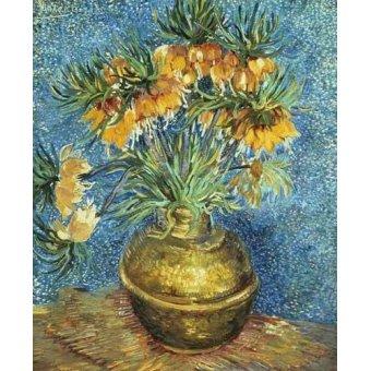 cuadros de flores - Cuadro -Corona Imperial de Fritilárias en jarrón de cobre- - Van Gogh, Vincent