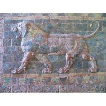 - Cuadro -Friso de un león del palacio de Darius I- - _Anónimo Persa