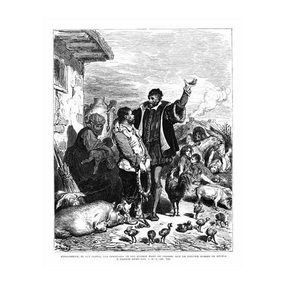 cuadros de mapas, grabados y acuarelas - Cuadro -El Quijote 1-44-