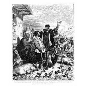 cuadros de mapas, grabados y acuarelas - Cuadro -El Quijote 1-44- - Doré, Gustave