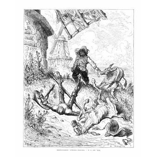cuadros de mapas, grabados y acuarelas - Cuadro -El Quijote 1-50-