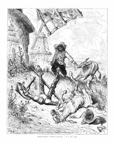 cuadros-de-mapas-grabados-y-acuarelas - Cuadro -El Quijote 1-50- - Doré, Gustave
