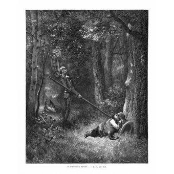 cuadros de mapas, grabados y acuarelas - Cuadro -El Quijote 2-132- - Doré, Gustave