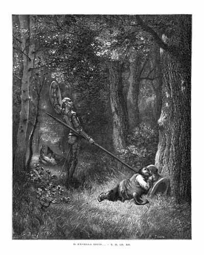 cuadros-de-mapas-grabados-y-acuarelas - Cuadro -El Quijote 2-132- - Doré, Gustave