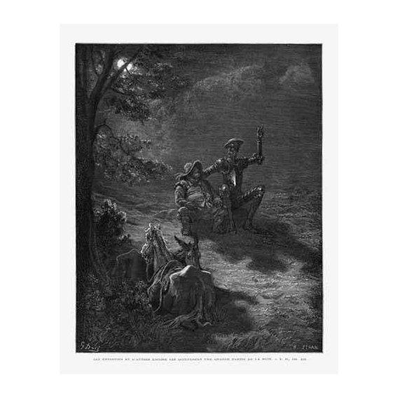 cuadros de mapas, grabados y acuarelas - Cuadro -El Quijote 2-76-