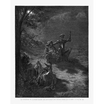 cuadros de mapas, grabados y acuarelas - Cuadro -El Quijote 2-76- - Doré, Gustave
