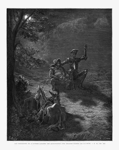 cuadros-de-mapas-grabados-y-acuarelas - Cuadro -El Quijote 2-76- - Doré, Gustave
