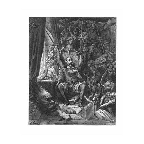 cuadros de mapas, grabados y acuarelas - Cuadro -El Quijote-