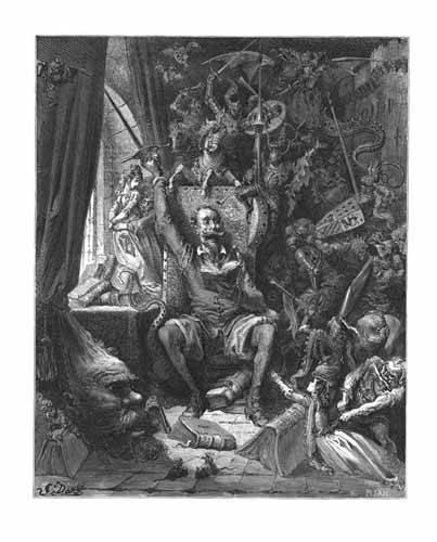 cuadros-de-mapas-grabados-y-acuarelas - Cuadro -El Quijote- - Doré, Gustave