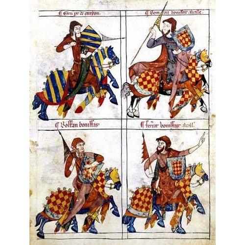 cuadros de mapas, grabados y acuarelas - Cuadro -Libro de los caballeros de Santiago-1-