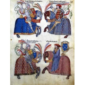 cuadros de mapas, grabados y acuarelas - Cuadro -Libro de los caballeros de Santiago-2- - _Anónimo Español