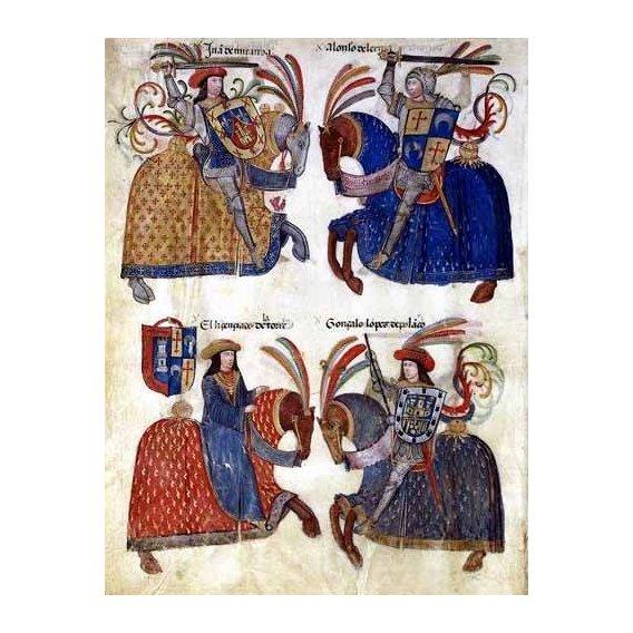 cuadros de mapas, grabados y acuarelas - Cuadro -Libro de los caballeros de Santiago-3-