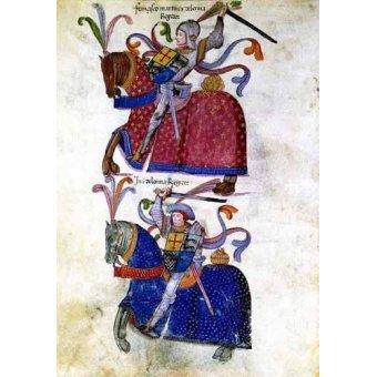 cuadros de mapas, grabados y acuarelas - Cuadro -Libro de los caballeros de Santiago-5- - _Anónimo Español