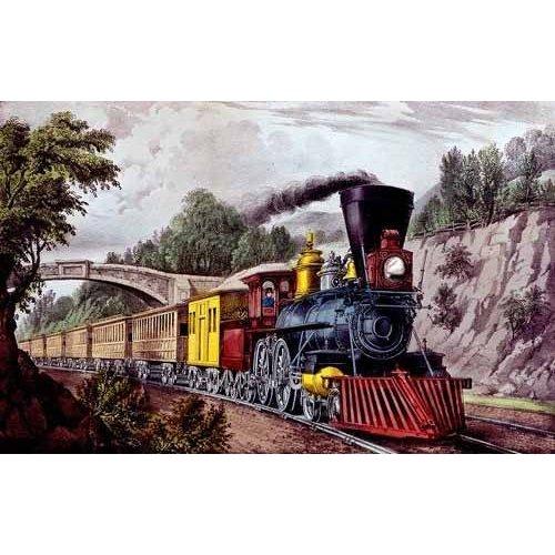 cuadros de mapas, grabados y acuarelas - Cuadro -Tren rápido-