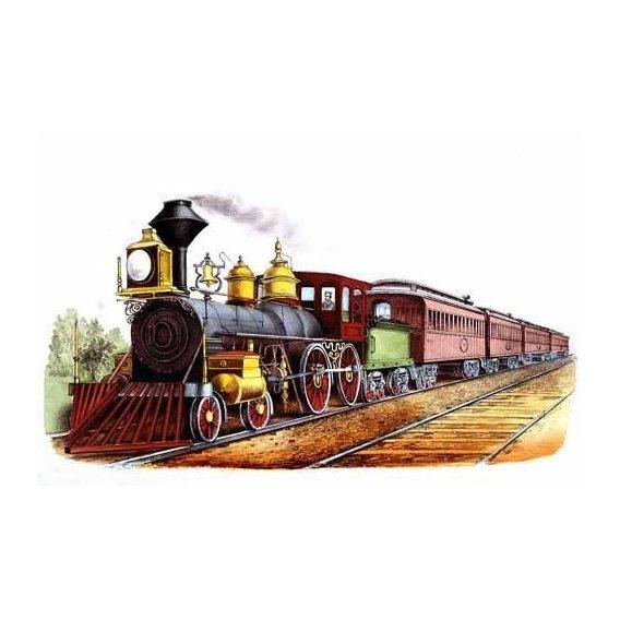 cuadros de mapas, grabados y acuarelas - Cuadro -Tren expresso directo-