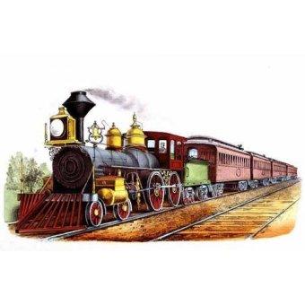 cuadros de mapas, grabados y acuarelas - Cuadro -Tren expresso directo- - Currier Nathaniel y Ives James