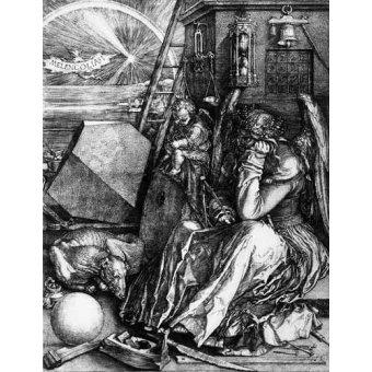 cuadros de mapas, grabados y acuarelas - Cuadro -Melancolía I- - Dürer, Albrecht (Albert Durer)