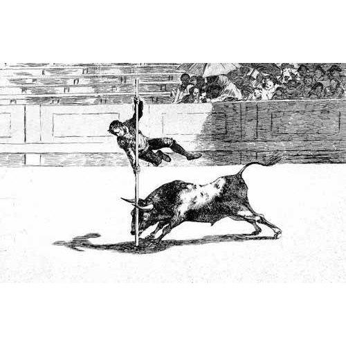 Cuadro -Tauromaquia num. 20: Ligereza y atrevimiento-