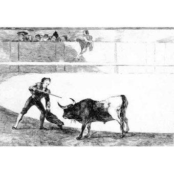 - Cuadro -Tauromaquia num.30: Pedro Romero matando a toro parado- - Goya y Lucientes, Francisco de
