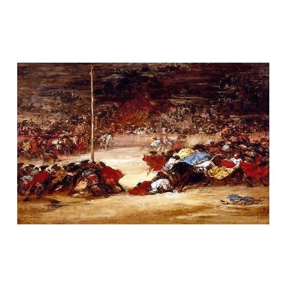 cuadros de mapas, grabados y acuarelas - Cuadro -La corrida-