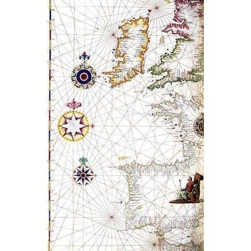 cuadros de mapas, grabados y acuarelas - Cuadro -Atlas portugués, 1565 (Diego Homm)- MAPAS