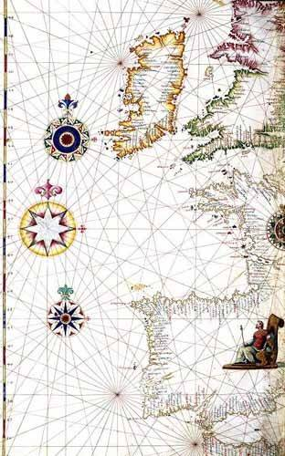 cuadros-de-mapas-grabados-y-acuarelas - Cuadro -Atlas portugués, 1565 (Diego Homm)- MAPAS - Mapas antiguos - Anciennes cartes