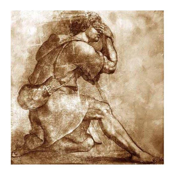 cuadros de mapas, grabados y acuarelas - Cuadro -Moses-