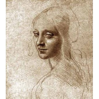 - Cuadro -Angel face of the Virgin of the Rocks- - Vinci, Leonardo da