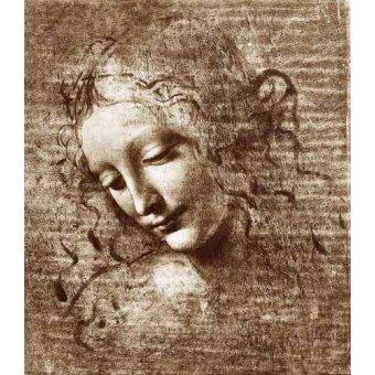 - Cuadro -Cabeza de dama- - Vinci, Leonardo da