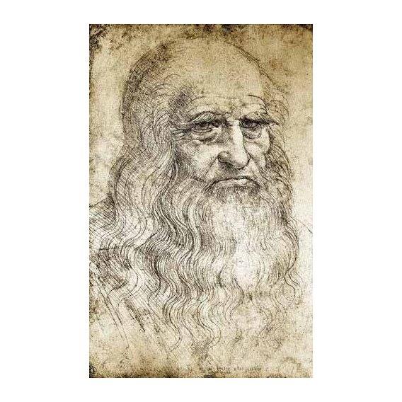cuadros de mapas, grabados y acuarelas - Cuadro -Autorretrato de Leonardo da Vinci-