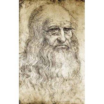 cuadros de mapas, grabados y acuarelas - Cuadro -Autorretrato de Leonardo da Vinci- - Vinci, Leonardo da