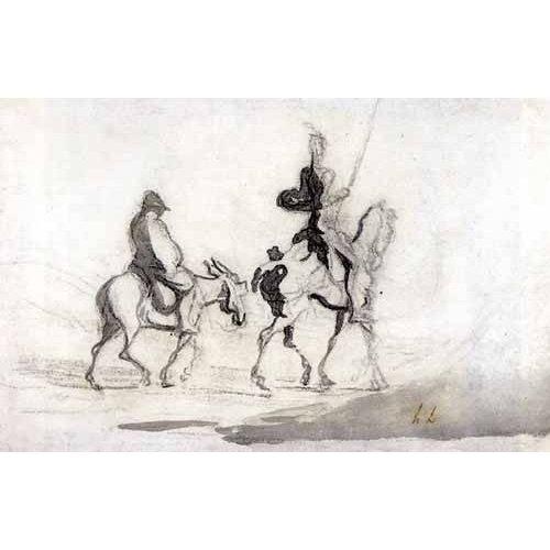 Cuadro -Don Quixote and Sancho Panza, 1850-