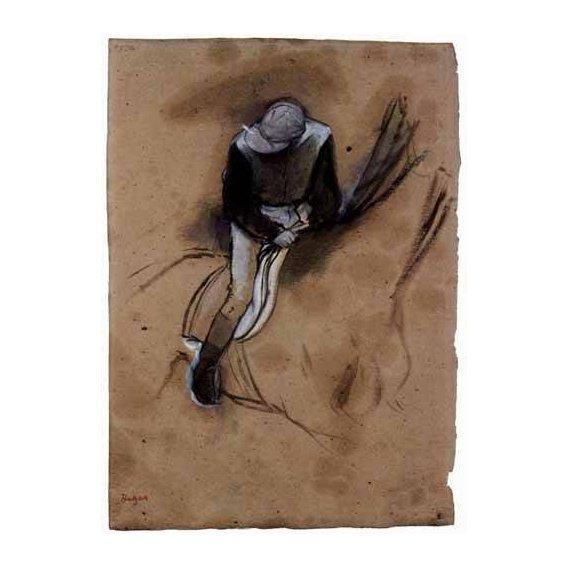 cuadros de mapas, grabados y acuarelas - Cuadro -El jockey-