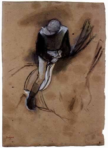 cuadros-de-mapas-grabados-y-acuarelas - Cuadro -El jockey- - Degas, Edgar