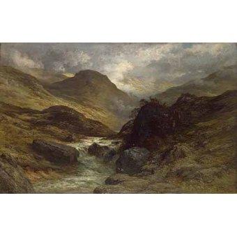 cuadros de mapas, grabados y acuarelas - Cuadro -La garganta- - Doré, Gustave
