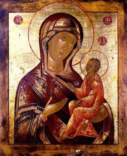 cuadros-religiosos - Cuadro -La Virgen Hodogetria- - _Anónimo Ruso